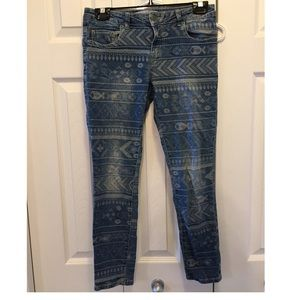 Kenneth Cole Reaction Pattern Skinny Jeans